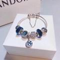 New Arrive Pandora 925 Sterling Silver Green Crystal Charm bracelets 20