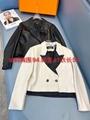 2021 New BALMAIN Leather Biker Jacket  women leather jacket
