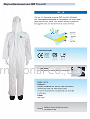 Disposable Nonwoven SMS Coverall