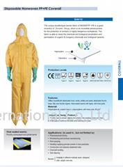 Disposable Nonwoven PP+PE Coverall