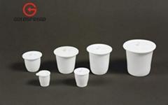 Teflon &PTFE & F4 Crucible 10ml 20ml 30ml 40ml 50ml 100ml 150ml 250ml 500ml