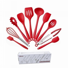 Silicone 10 Piece Cooking Utensil Sets Cooking Tools Kitchen Utensils