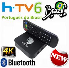 HTV 6 tigre tv BOX A2 htv5 box Brazilian Portuguese Internet IPTV Box Live Brazi
