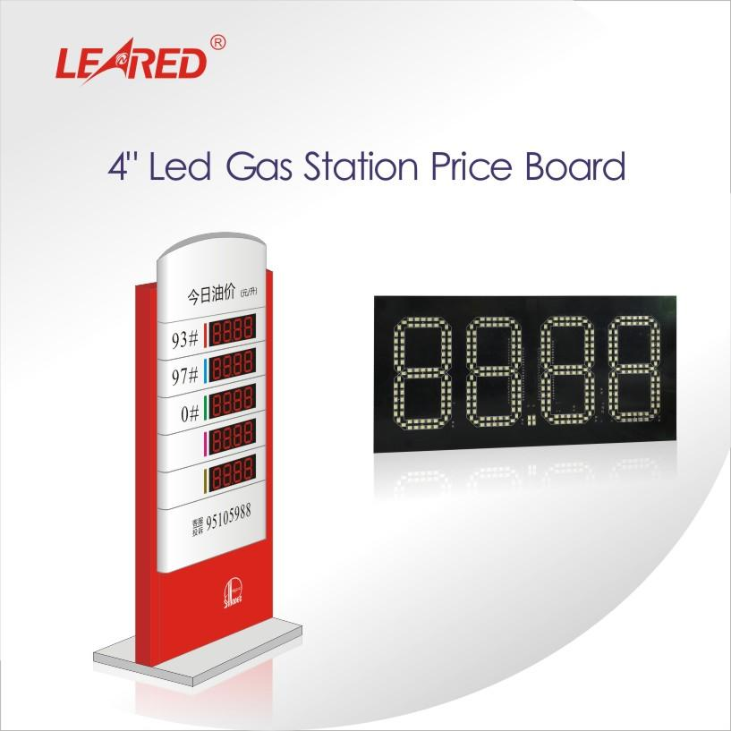 China Manufacturer 4 inch remote control LED gas station price board