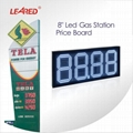 Professional 8 inch led price display board for petrol station manufacturer