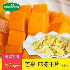 FD真空凍干芒果片 休閑零食綜合水果干 芒果脆片批發