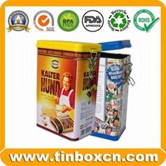 Cookies Tin Can Biscuits Metal Tin Box