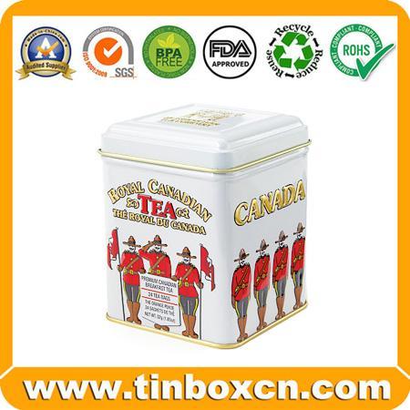 Tea Tin Box Metal Tin Can 1