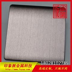 佛山廠家專業加工304電鍍咖啡金拉絲不鏽鋼彩色板