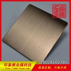304電鍍玫瑰金拉絲抗指紋不鏽鋼彩色板生產廠家