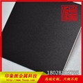 廠家供應304不鏽鋼噴砂黑鈦裝飾板 5