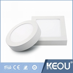 6w 12w 18w 24w surface mounted LED Panel Light keou indoor