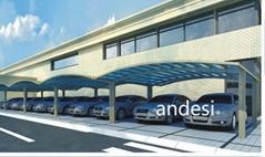curved roof aluminum carport system