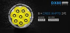 艾美能特IMALENT DX80 32000LM led 強光燈戶外強光遠射充電手電