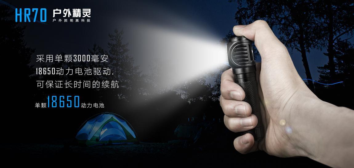 艾美能特 Led 露營探洞強光充電戰朮戶外頭燈 3