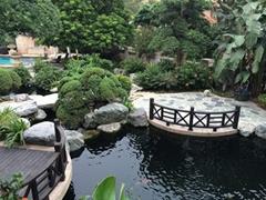 假山魚池施工