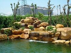 五行園林庭院假山魚池