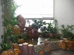 別墅花園假山