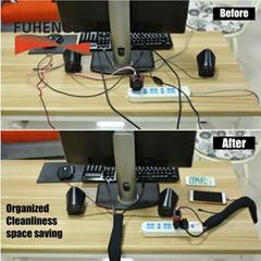 Hot-selling OEM supplier Neoprene Adjustable Wire Hider Concealer Protector