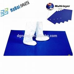 Nabai LDPE multi-layers numbered ahesive door floor sticky mat