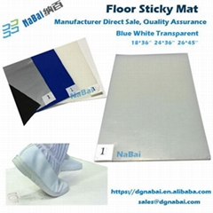 Exporting to USA LDPE multi-layers film floor sticky mat China factory supplier