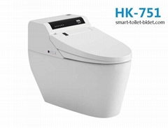 Ceramic big size auto flush Sanitary ware intelligent commode closestool