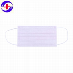 Breathable 3ply Nonwoven Disposable Face Mask For Cleanroom