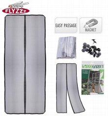 Polyester anti-insect magnetic mosquito net for door
