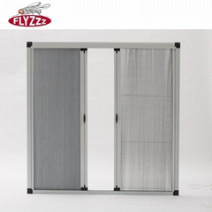 DIY Aluminum profile wind-resistance insect screen net pleated mesh window