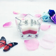 star scented glass candl