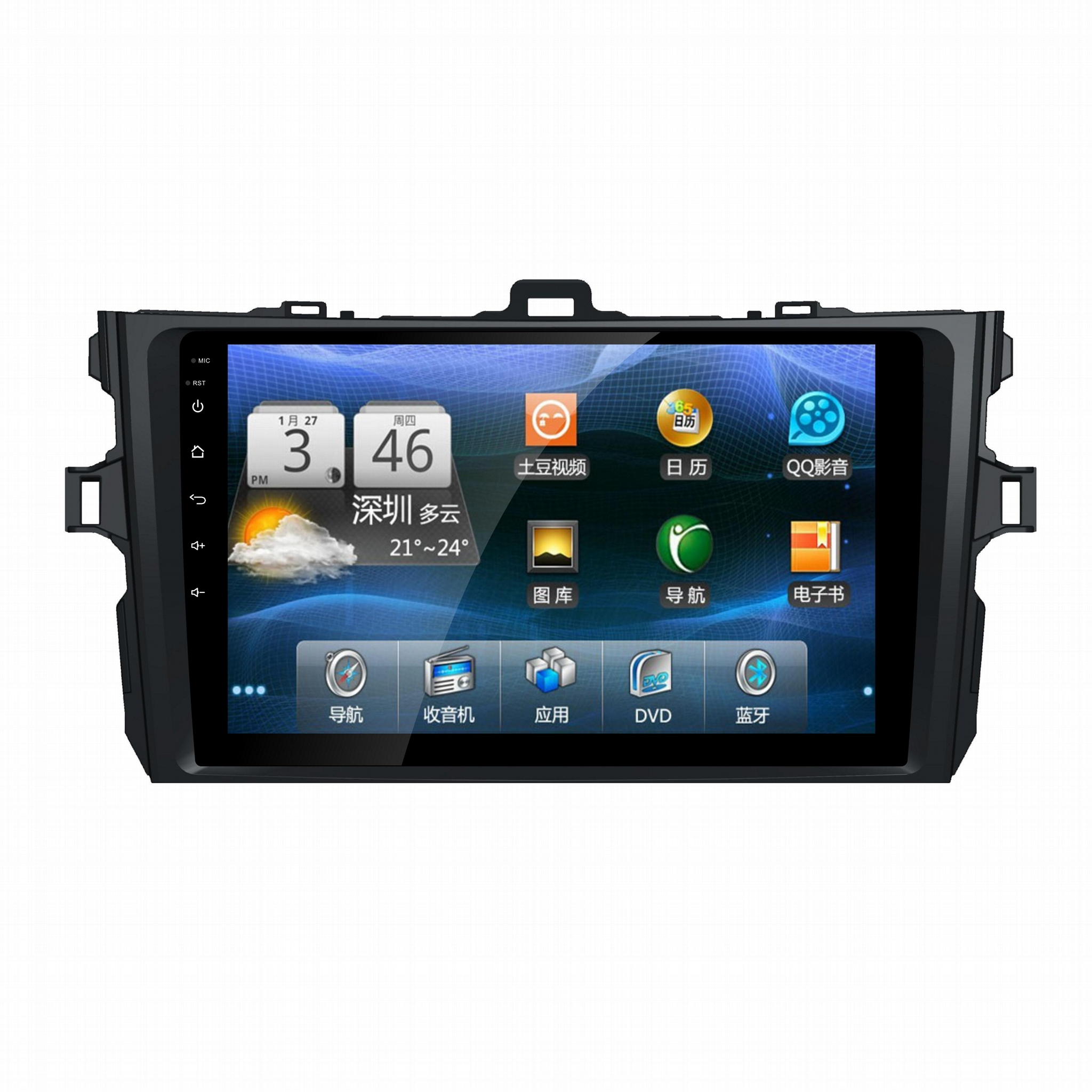 Android 6.0 car dvd radio player stereo gps for Toyota Corolla  2008 2009 2013 1