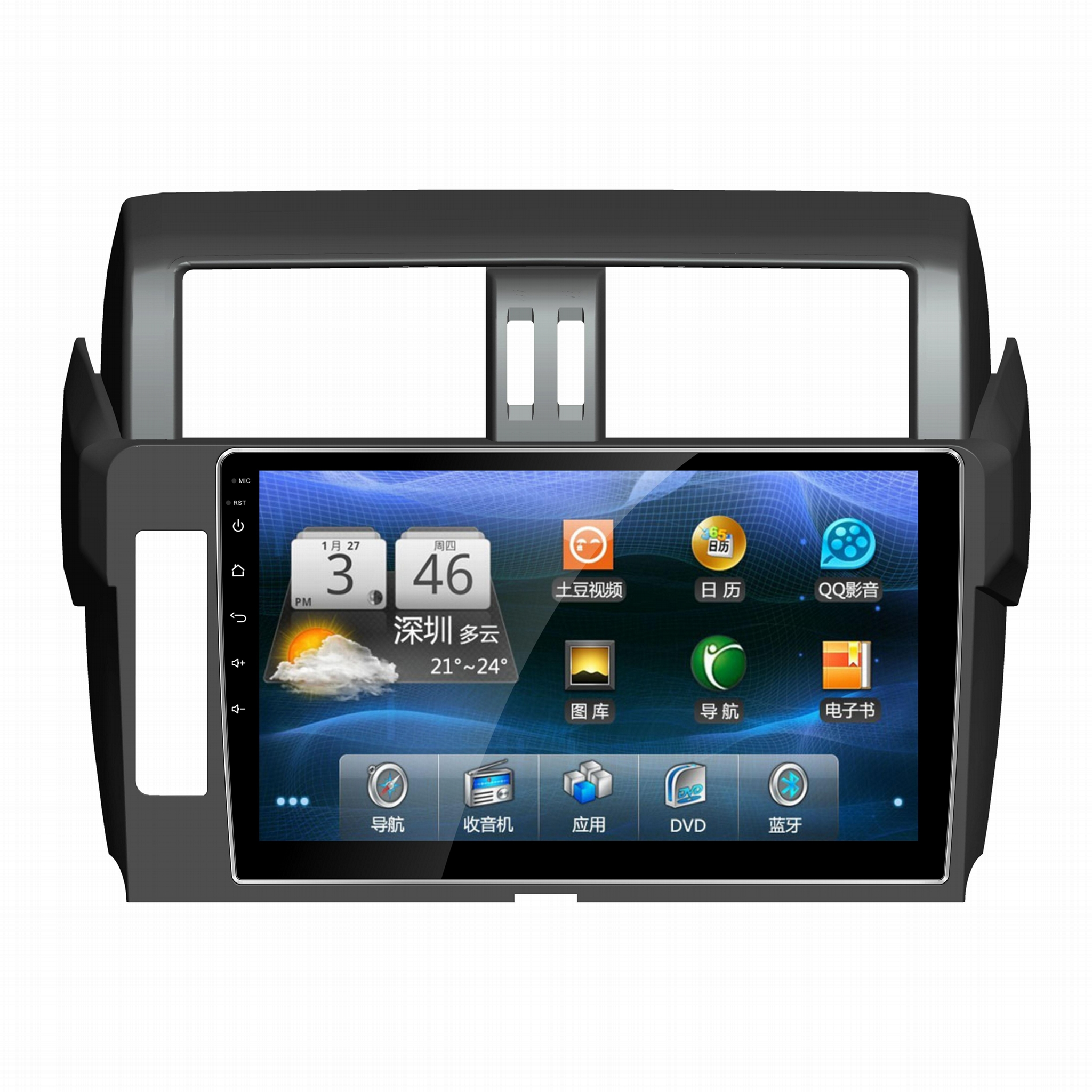 10.1 inch Car DVD GPS Player for Toyota Prado Radio Stereo In Dash 1