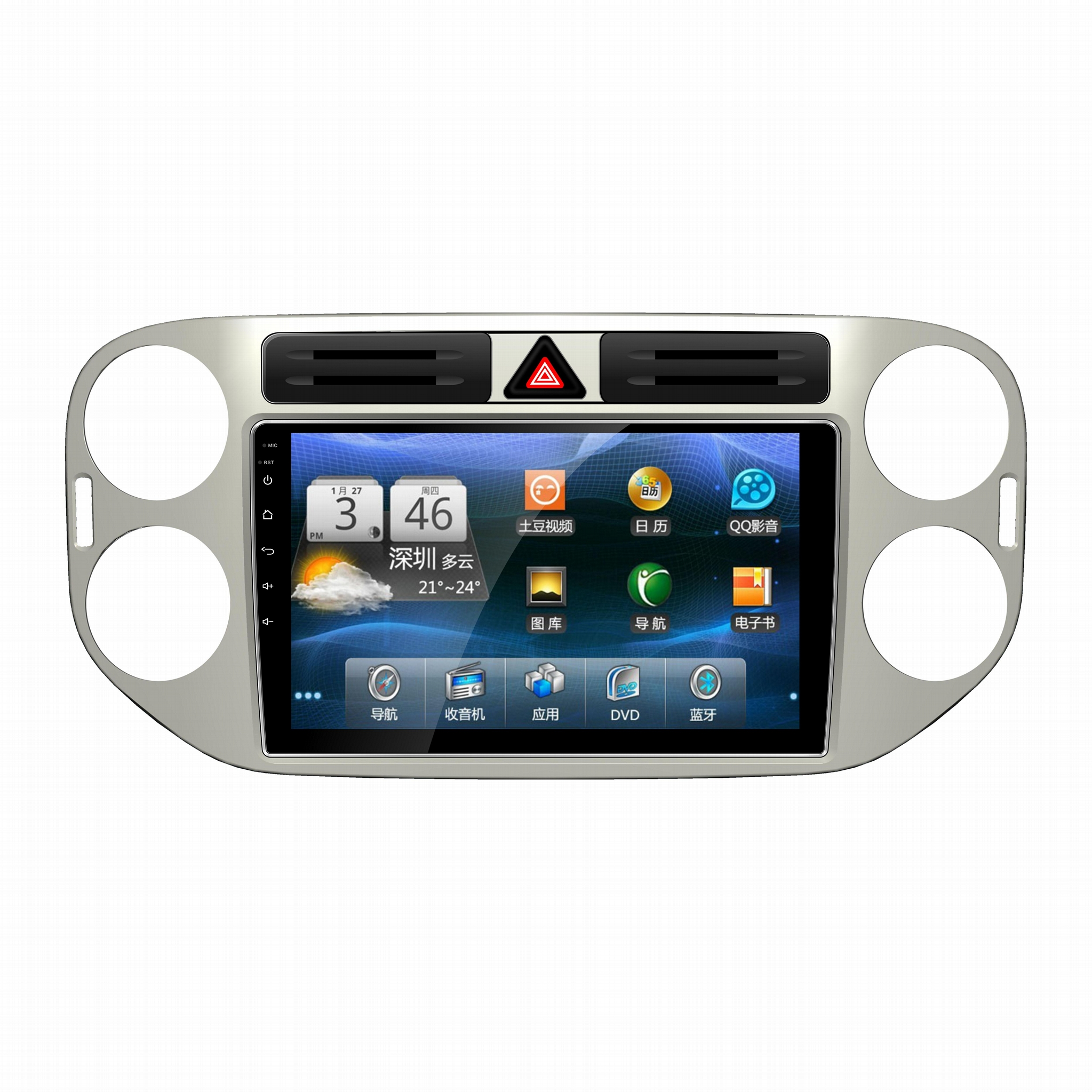 Android 6.0 10.1inch Car DVD for VW TIGUAN with GPS Navivbluetooth wifi 4G 1
