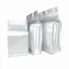 Matellized flat bottom pouch with va  e si  er dried food packaging bag
