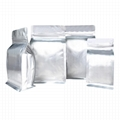 Si  er Aluminum Foil Flat Bottom Pouch with Zipper For Food Packaging Bags 1