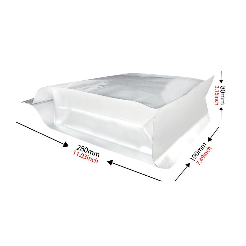Resealable Flat Bottom Flexible Box Bag Matt Si  er (Zipper) 1
