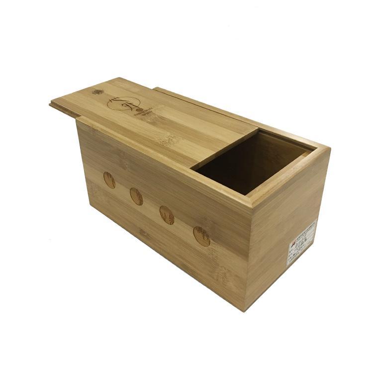Wholesale Painted Handmade Sliding Wooden Wine Storage Box with Custom Logo 1
