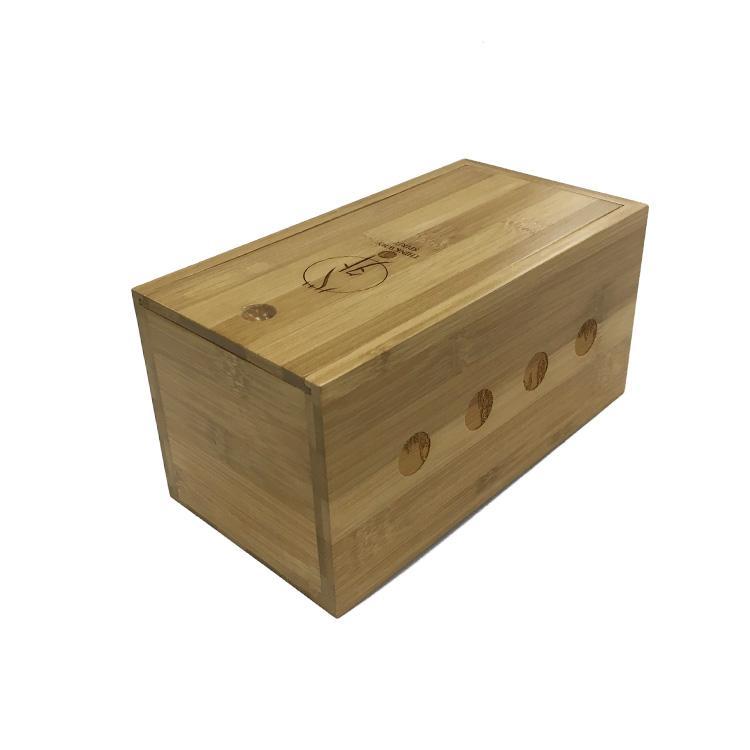 Wholesale Painted Handmade Sliding Wooden Wine Storage Box with Custom Logo 5