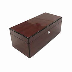 High gloss finish good quality wooden wine box china manufacturer