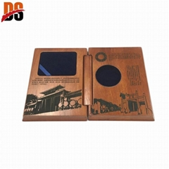 Professional Solid wood box custom coin box luxury coin gift Wooden box