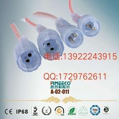 供应2P-4P扁头透明排线