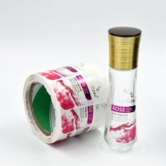 Custom Made Transparent Cosmetic Bottle Label