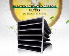 wholesale best quality pocket style active carbon air filter