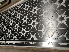 Perforated Laser Cut Stainless Steel Screen Wall Panel