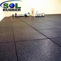 1mx1mx15mm Heavy Duty Area Gym Tile Rubber Floor Mat