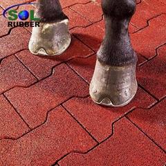 Anti slip horse barn dog bone rubber flooring pavers