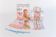 Facial tissue single layer folded plastic film packaging manufacturer