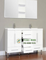 China Furniture Factory Supply Waterproof PVC Bathroom Accessory Cabinet