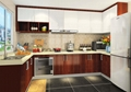 classical solid wood kitchen sets furniture with accessories