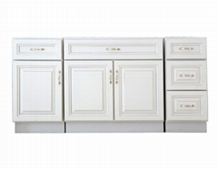 High-end Solid Wood Kitchen Cabinets Made in China